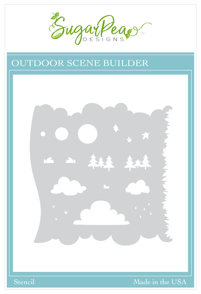 Outdoor Scene Builder Stencil