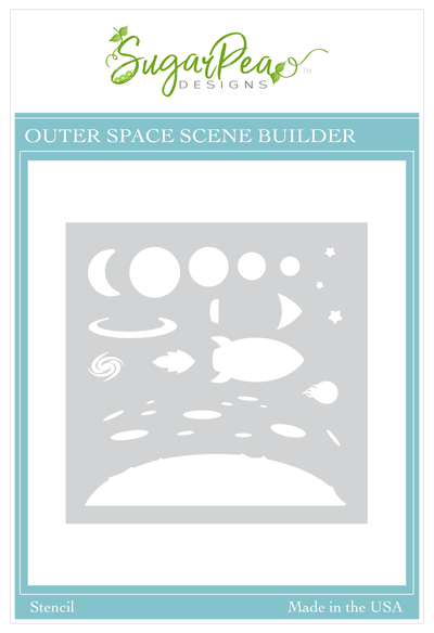 Outer Space Scene Builder Stencil