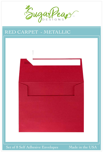 Red Carpet Metallic Envelopes