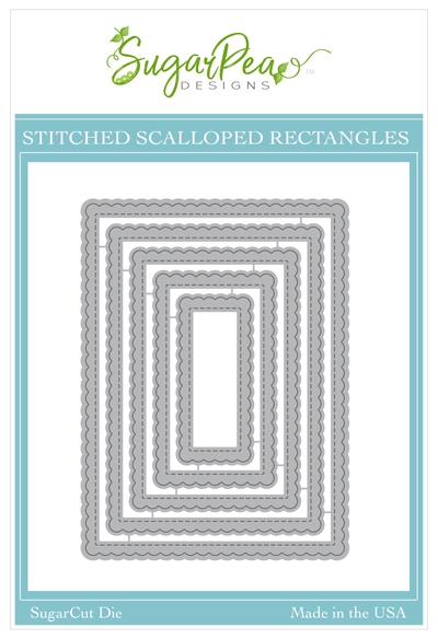 SugarCut - Stitched Scalloped Rectangles