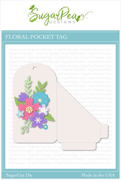 Floral Pocket Tag