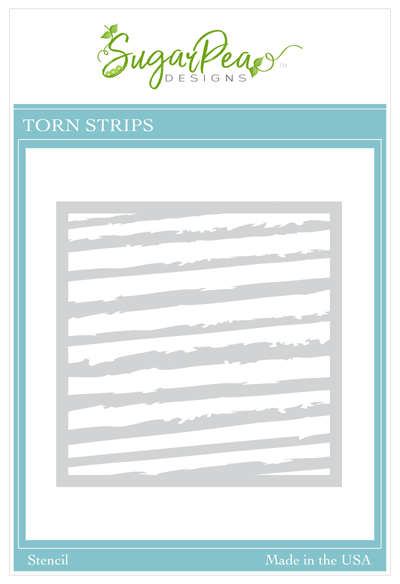 Torn Strips Stencil