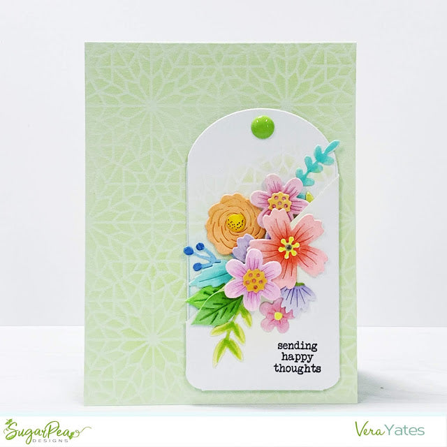 SugarCut - Floral Pocket Tag