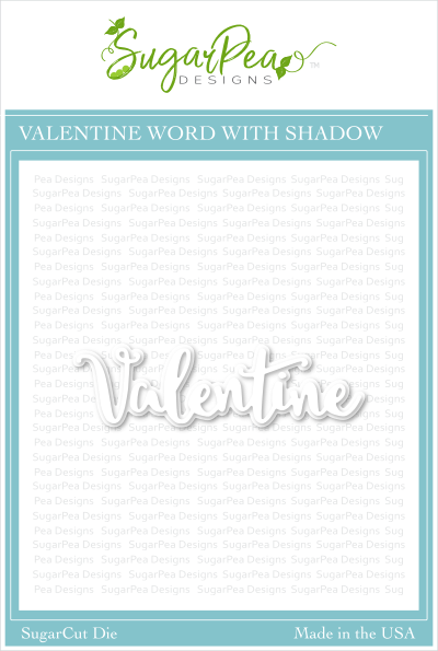 Valentine Word with Shadow