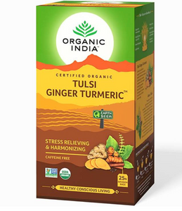 Tulsi turmeric ginger tea, 25 påsar, Organic india
