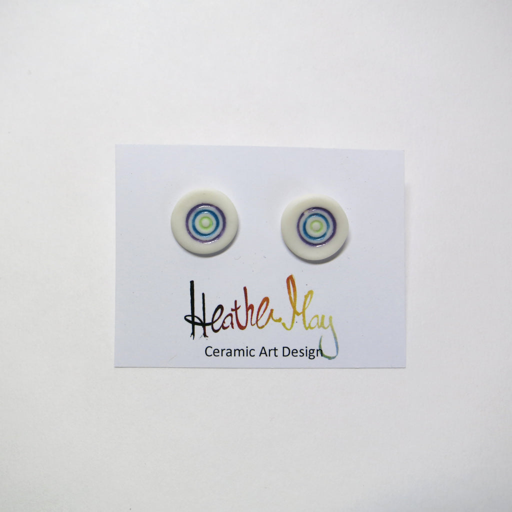 Small Circle porcelain earrings