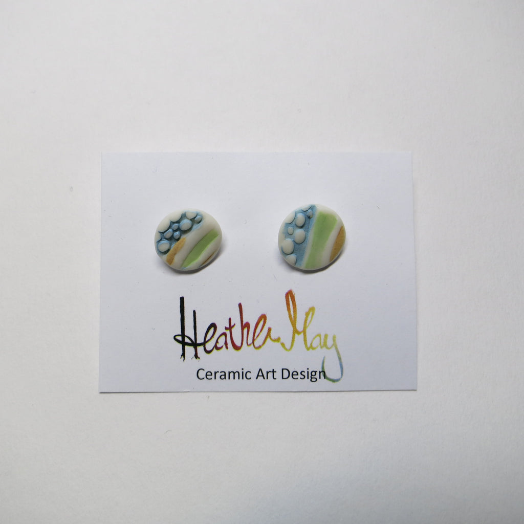 Seascape porcelain earrings