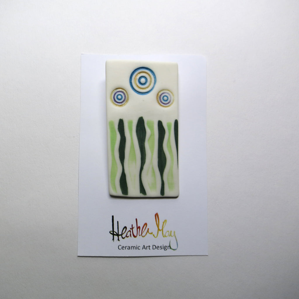 Forest porcelain brooch