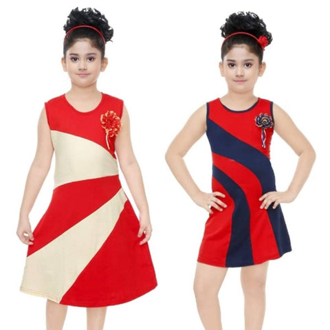 Stylish Casual Cotton Dress For Girls Combo of 2