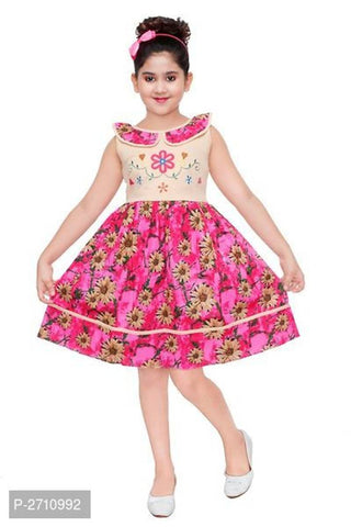 Knee Length Dress For Baby Girl