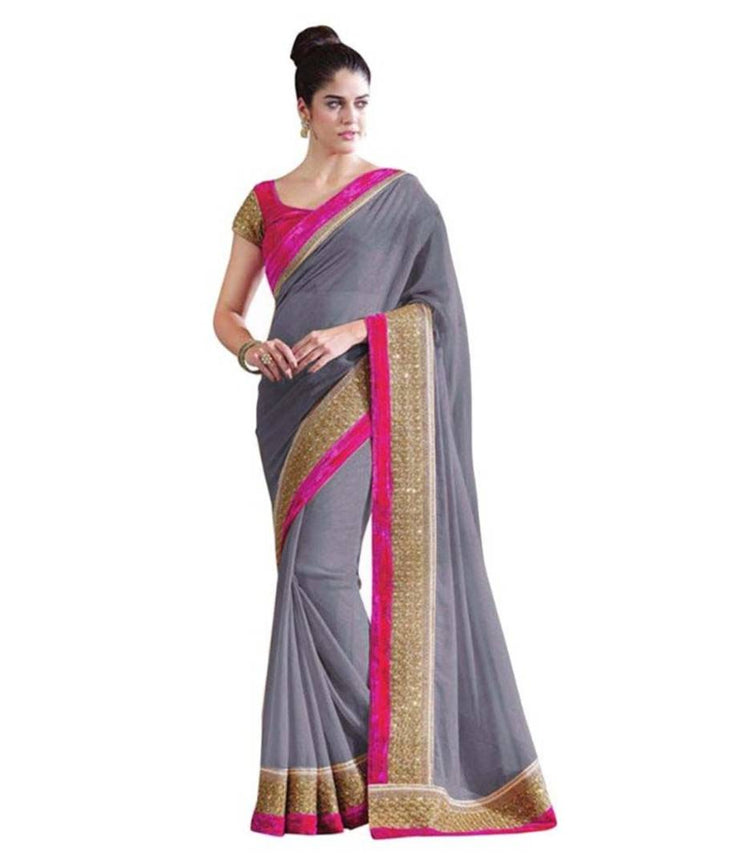 Designer Georgette Sarees With Blouse