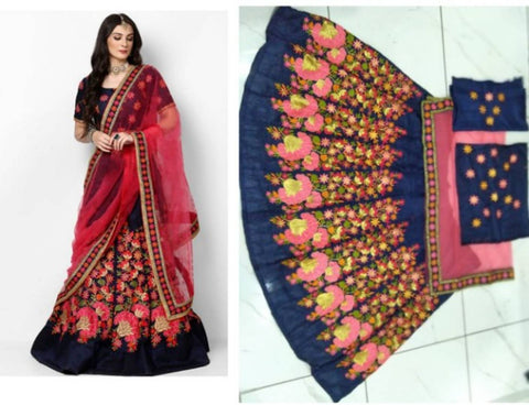 Beautiful Silk Blend Lehenga Choli With Dupatta