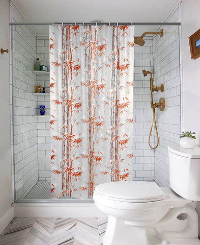 Waterproof Shower Curtain for Bathroom with 8 Hooks(Set Content : 1 Shower Curtain Set)