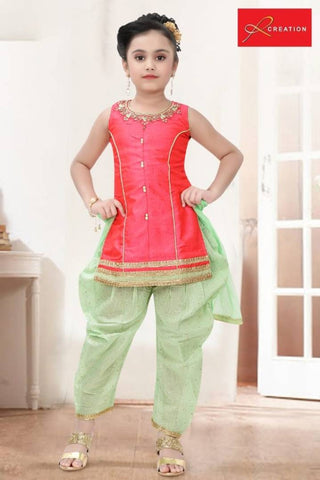 Gorgeous Silk Ethnic Wear Churidaar for Girl's