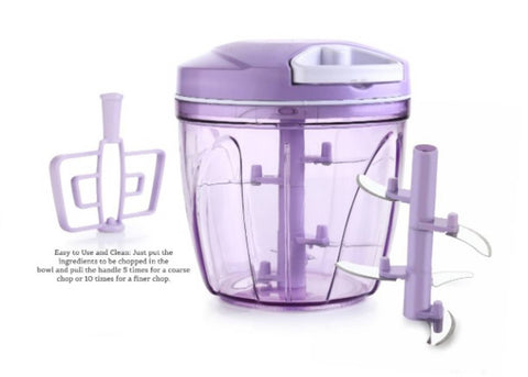 Vegetable CHOPPER 2 IN 1 Unbreakable SHARP 5 BLADE Cutter / Chopper 900ml