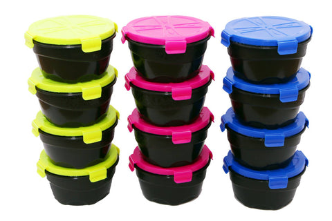 Plastic Kitchen Storage Container 1200 ml (Pack of  12)