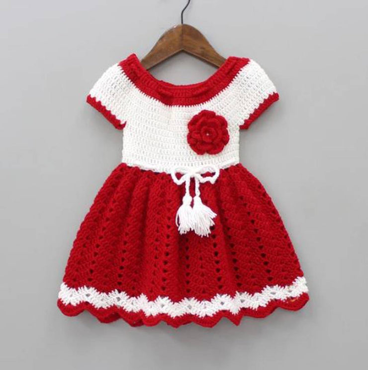 Little Princess Adorable Woolen Frock For Infant Girls