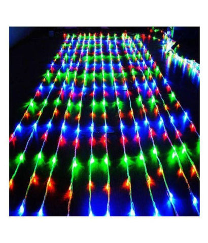 Lights-Waterfall Mode 10 x 10 Feet Curtain String Lights Multi