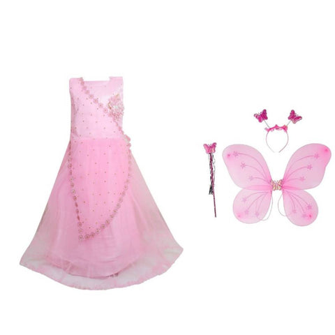 Girl Dress Angel Butterfly Fairy Party Frock