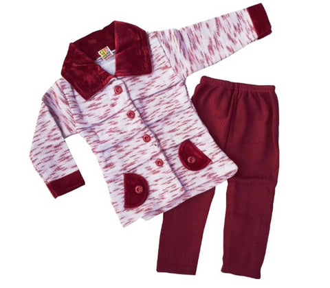 Girls Pajami woolen set (pack of 1)