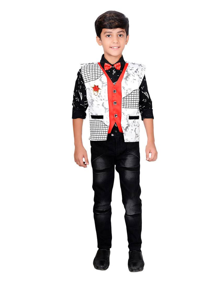 Shirt And Pant for boys Cotton Blend Waistcoat