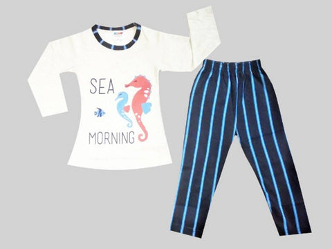 Modern Funky Top & Bottom Set For Girls