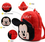 Spiderman-Mickey Soft Velvet Kids School/Nursery/Picnic/Carry/Travelling Bag - 2 to 5 Age Waterproof Backpack (Red, Red, 14 L) Pack Of 2