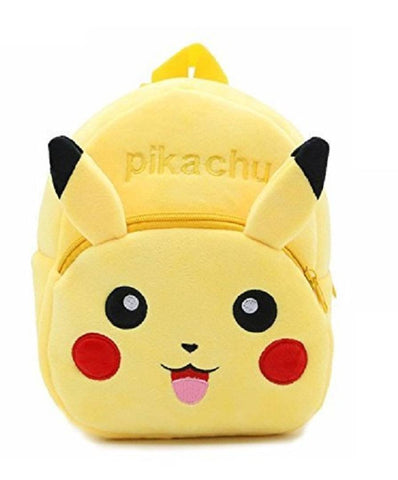 Pikachu Lovely Kids School Bag Casual Bags Waterproof Plush Bag Backpack Durable and Sturdy (Yellow, 14 L) Pack Of 1