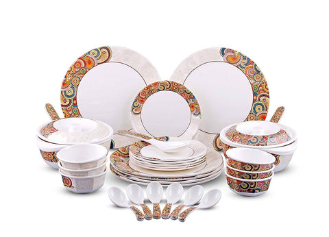 Essential Multicoloured Dinner Set (Combo Of 40 Piece)