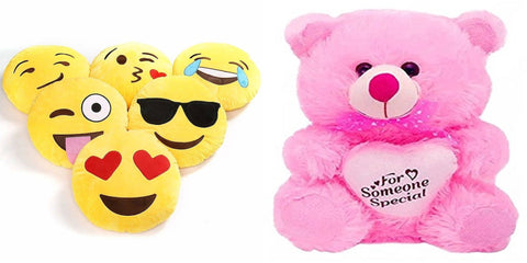 Gift Basket Soft Toy With 5 Smiley