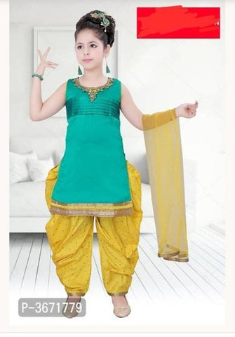 GORGEOUS AND BEAUTIFUL PATIYALA SUIT FOR KIDS