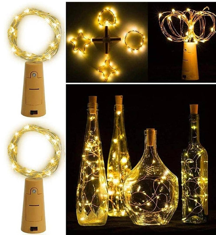 Christmas & New Year's Decorative 20 LED Wine Bottle Cork Lights Copper Wire String Lights