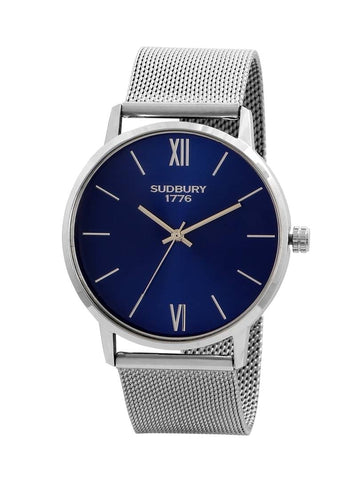 Stylish and Trendy Silver Metal Strap Analog Watch for Men's