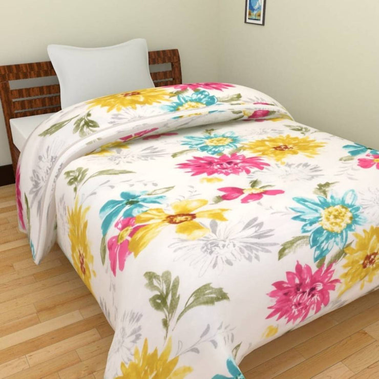 Beautiful and Comfortable MicroFiber Reversible Single Bed AC Dohar / Blanket