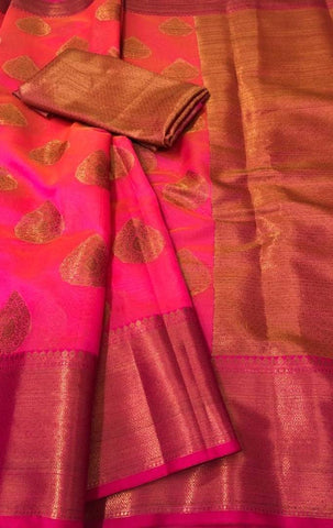 Latest Attractive Art Silk Jacquard Saree with Blouse piece