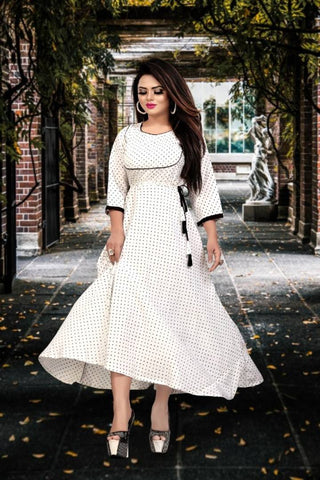 Women Fit/flare Crepe Anarkali Gown