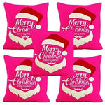 Christmas Special Multicolored Cushion Covers Set Of 5
