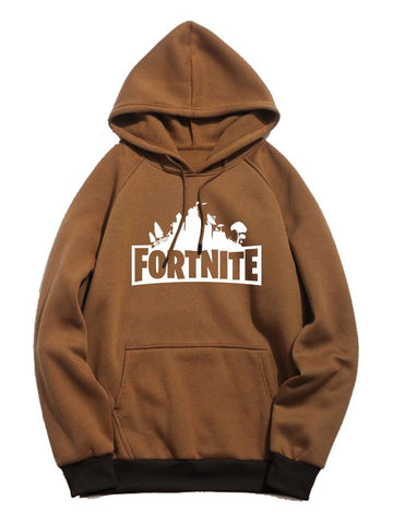 Unisex Regular Fit Fortnite Printed Cotton Hoodie