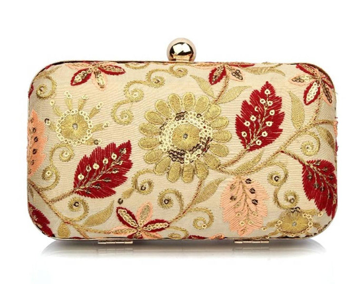 TMN Women's Gold Clutch