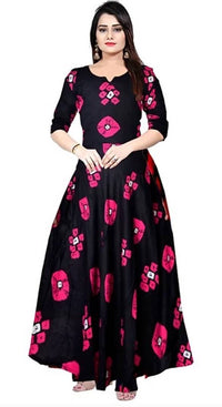 Beautiful Rayon Stitched Ethnic Gown for Girls and Women