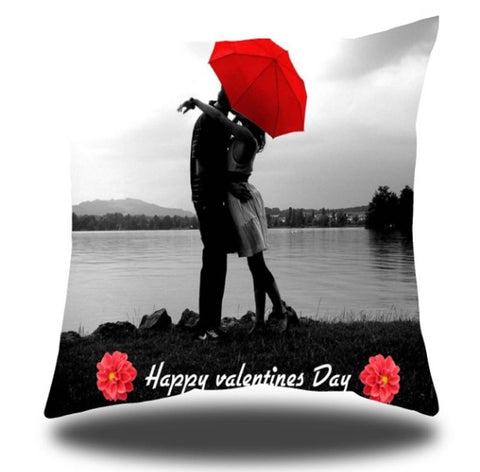Valentine Satin Printed Cushion Cover