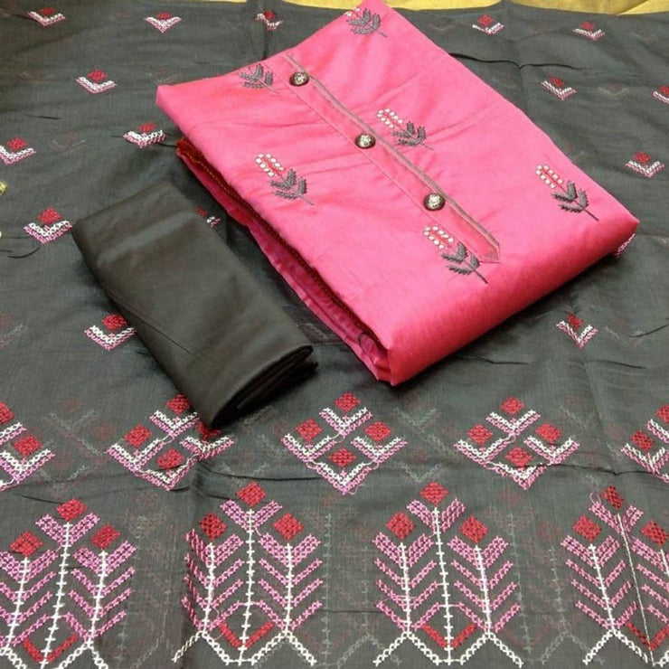 Latest Beautiful Chanderi Cotton Dress Material with Dupatta