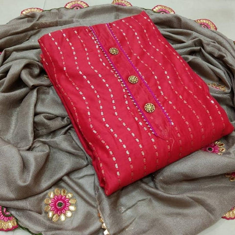 Exclusive Semi Modal Dress Material with Dupatta