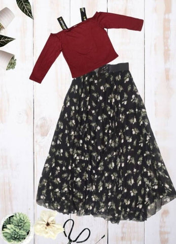 Crop Top & Skirt Set