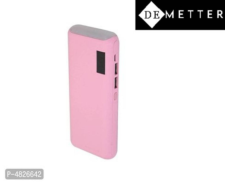 DeMetter Model Number Tlwp 10000 Power Bank  (Pink, Lithium-ion)