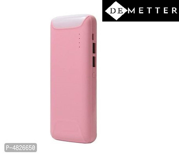 DeMetter Model Number Yu502 10000 mAh Power Bank  (pink, Lithium-ion)