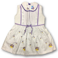 Stylish Purple Synthetic Self Pattern Frocks For Girls