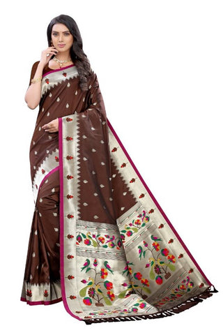 Beautiful Pure Silk Paithani Weaving Saree with Blouse piece