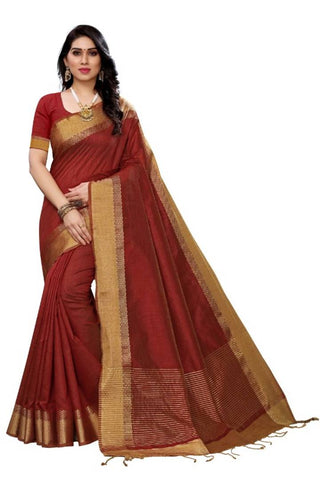 Latest Attractive Cotton Silk Saree with Blouse piece