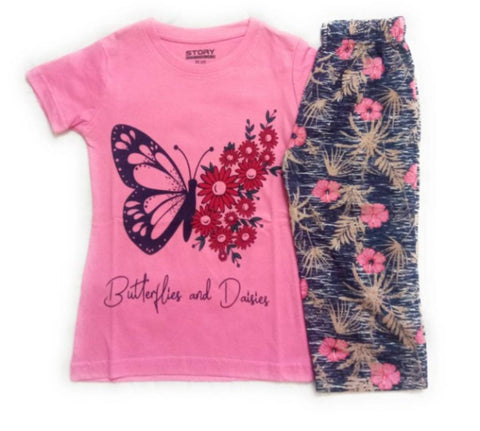 Kids Cotton T-Shirt with Pyjama Set